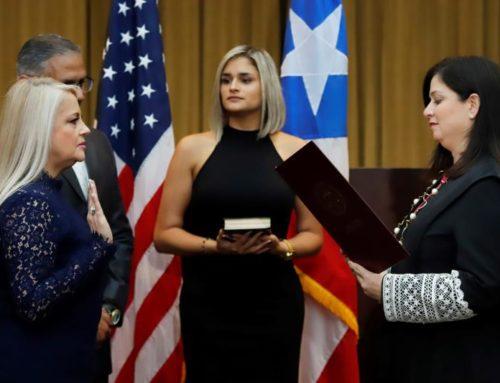 La secretaria de Justicia dePuertoRicojura como gobernadora tras el fallo del Supremo