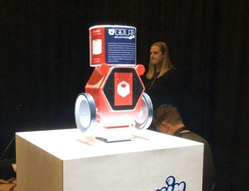 Robot que lleva papel higiénico cuando más se necesita