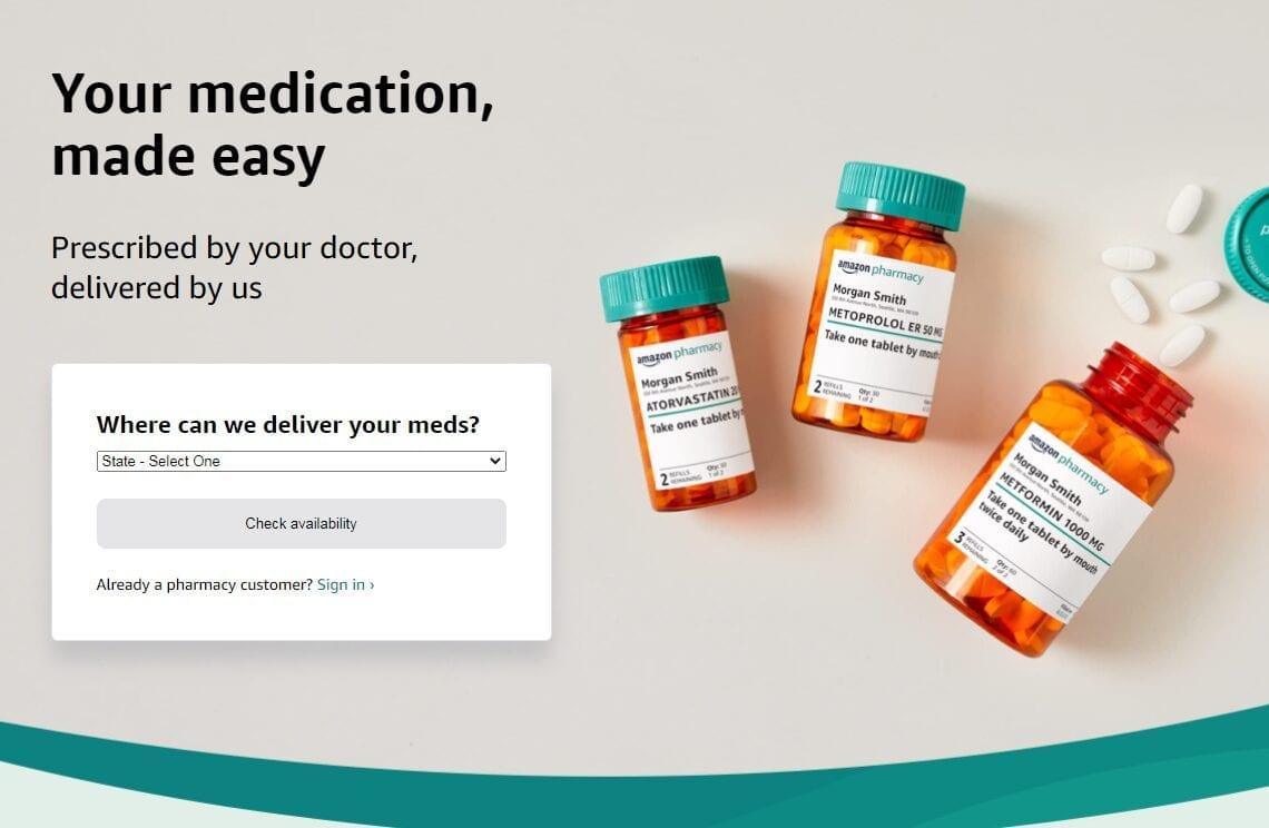 Llega por línea Amazon Pharmacy, con descuentos y entregas rápidas